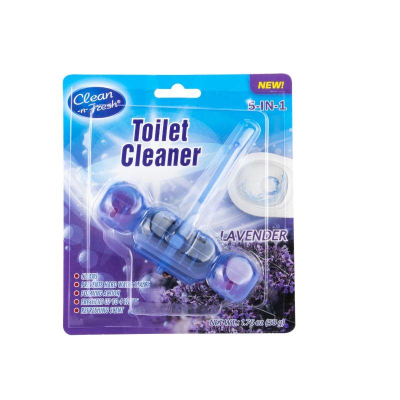 blue flush toilet cleaner hanger